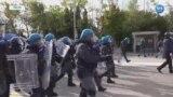 İtalya'da Corona Virüsü Sertifikasına Karşı Protesto