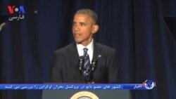 دیدار اوباما و دالای لاما در حاشیه یک مراسم مذهبی در واشنگتن