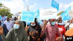 SOMALIA-POLITICS-UNREST Protest in Mogadiscio
