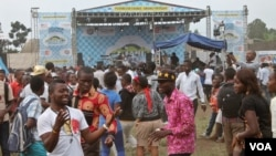 The Amani Music Festival brought some of Africa's biggest artists to Goma, a town ravaged by war and natural disasters, in the Democratic Republic of Congo, Feb. 14, 2015. (Hilary Heuler / VOA News)