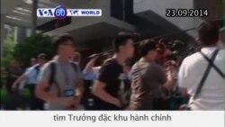 Sinh viên đòi dân chủ, cảnh sát Hong Kong đụng độ (VOA60)