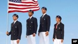 Ảnh của hãng Ralph Lauren thiết kế đồng phục cho các vận động viên Mỹ đi dự Olympic London 2012
