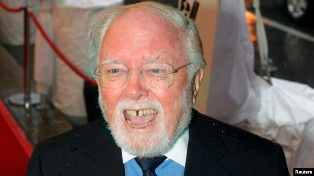FILE - Director Richard Attenborough arrives at the gala for the movie 'Closing The Ring'  at the 32nd Toronto International Film Festival in Toronto.