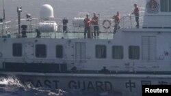 남중국해 상을 항해 중인 중국 해안경비대 (자료사진)