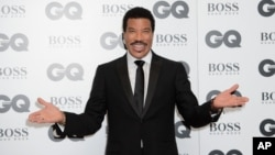 Lionel Richie at the GQ Men of the Year Awards 2015 at a central London venue, London, Sept. 8, 2015.