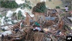 هلاکت 600 تن در سیلاب های فلیپین