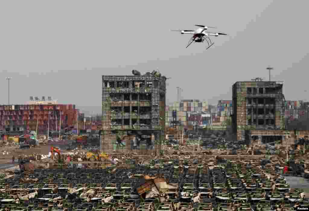Çin - Partlayışın baş verdiyi Binhay şəhəri