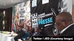 Journaliste en danger (JED) lors d'un atelier sur la décrispation politique en RDC au Katanga, RDC, 13 juin 2018. (Twitter/JED)
