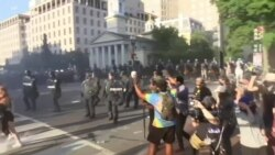 Forcat e rendit ndërhyjnë për të shpërndarë protestuesit para Shtëpisë së Bardhë