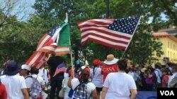 Las marchas en Washington buscan que el presidente Trump respete los derechos de los inmigrantes, según manifestaron sus organizadores. Foto: Verónica Balderas Iglesias.