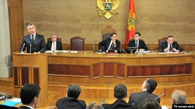Premijer Milo Đukanović u Skupštini Crne Gore