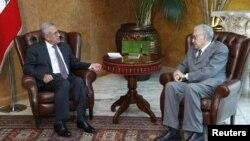Ðặc sứ Brahimi hội đàm với Tổng thống Libăng Michel Suleima tại dinh tổng thống ở Baabda, gần Beirut, ngày 17/10/2012