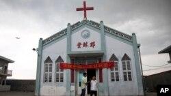 중국 저장성 동부 원저우 룽안 지역의 한 교회. (자료사진)