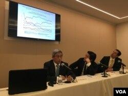 全球台湾研究中心台湾年轻世代政治态度座谈会 (美国之音钟辰芳拍摄)