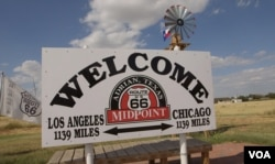Adrian, Texas, the half-way point of Route 66