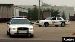 Ảnh minh họa: Hai chiếc xe của cảnh sát ở Goshen, bang Indiana.