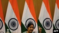 အိႏၵိယ ႏိုင္ငံျခားေရး၀န္ႀကီး Sushma Swaraj (ၾသဂုတ္ ၂၂၊ ၂၀၁၅)