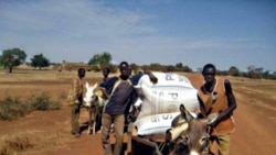 Farmers in Burkina Faso transport their harvest in airtight bags