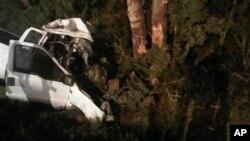 На месте трагедии почти в 150 километрах к юго-востоку от Сан-Антонио. 23 июля 2012 г.