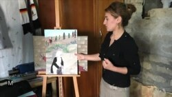 Young Yazidi Refugee Paints About Islamic State 'Nightmare'