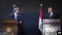 کنفرانس خبری مشترک وزرای خارجه آمریکا و مصر - قاهره، ۲۲ شهریور ۱۳۹۳