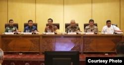 Rapat Koordinasi Penanggulangan Virus Corona di Komplek Kepatihan, Yogyakarta, Senin 16 Maret 2020. (Foto: Humas Pemda DIY)