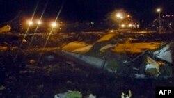 Ikibanza c'aho indege itwara abantu y'Uburusiya, Boeing 737 yagiriye isanganya ku kivuga c'indege ca Kazan, mu gihugu c'Uburusiya