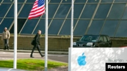 FILE - Apple Operations International, a subsidiary of Apple Inc., in Hollyhill, Cork, in the south of Ireland. Apple is to hire an additional 1,000 staff in Ireland, the government said on Wednesday, as the iPhone maker bids to boost its presence in the country.