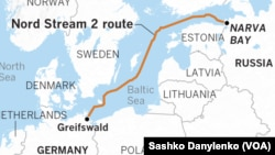 """Карта будущего трубопровода """"Северный поток-2"""""""