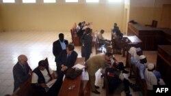 Une audience avec un juge tchadien au Palais de justice de N'Djamena lors de l'affaire Arc de Zoé, le 8 novembre 2007.