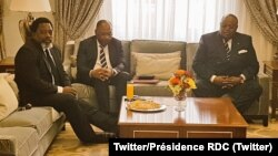 Le président Joseph Kabila rencontre son homologue angolais, à Luanda, Angola, 2 août 2018. (Twitter/Présidence RDC)