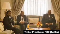 Os presidentes Jospeh Kabila e João Lourenço em Luanda