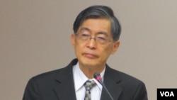 台湾环保署长魏国彦(美国之音张永泰拍摄)