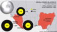 Ebola cases and deaths in West Africa, as of Aug. 28, 2014 update