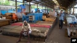 Sebuah pasar yang sepi di Kolombo, Sri Lanka (foto: ilustrasi).