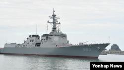 한국 해군 구축함. (자료사진)