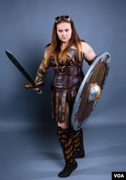 Inger Talbot dressed as Xena the Warrior Princess (I Talbot/Facebook)