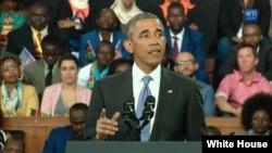 奧巴馬總統7月26日在內羅畢發表演講