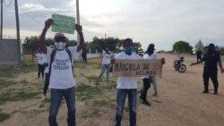 Manifestação em Ondjiva, província do Cunene, 21 novembro 2020