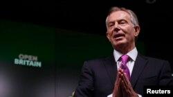 FILE - Mantan Perdana Menteri Inggris Tony Blair berbicara dalam acara pro-Eropa di London. (Foto: dok.)