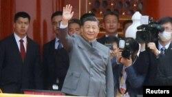 中共總書記習近平參加中國共產黨建立一百週年慶祝活動(2021年7月1日)