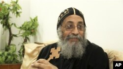 L'évêque Tawadros II, le Caire, 2 novembre 2012.