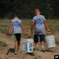 义工农场的孩子们知道他们能带来变化