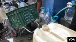 Escasez de agua en Venezuela. Foto Carolina Alcalde, VOA.