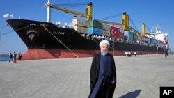 İran Cumhurbaşkanı Hasan Ruhani, Çabahar'daki liman ve serbest bölgenin 3 Aralık'taki açılış törenine katılmıştı.