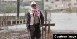 Ir. Edy Wahyudi di Gaza. Pengalaman menjadi relawan dan dalam binis pembangunan mengantarnya menjadi relawan selama 10 tahun di Gaza, mengawasi pembangunan rumah sakit Indonesia. (foto: courtesy)