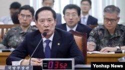 송영무 한국 국방부 장관.