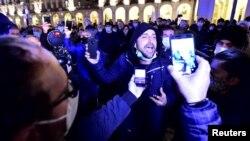 Протестувальники в Турині 26 жовтня 2020 р.