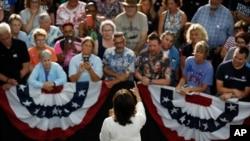 سناتور هریس در نشست انتخاباتی - آیووا