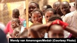 Des déplacés sud-soudanais dans le camp Tomping de l'UNMISS à Juba, au Soudan du Sud